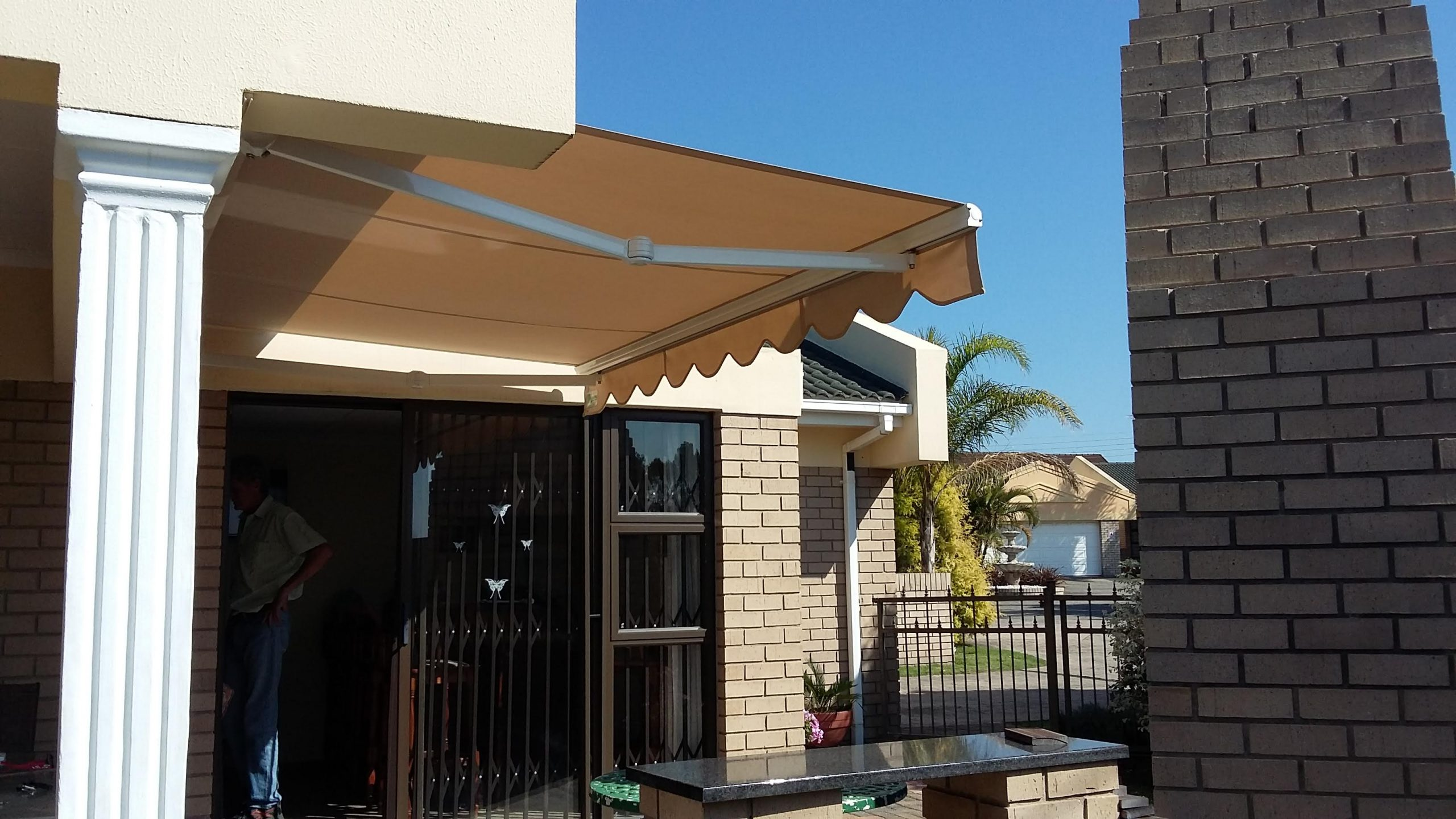 Retractable Canvas Awning installed by All-Awnings